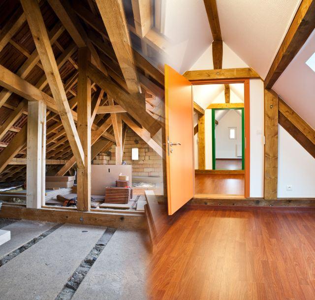 Zdj cie adaptacja strychu na dodatkowy pok j potrzebna for Agrandissement maison grenier