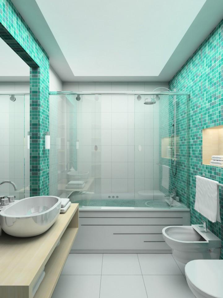 Szk o jako element aran acji azienki projekt azienki azienka - Sale da bagno moderne ...