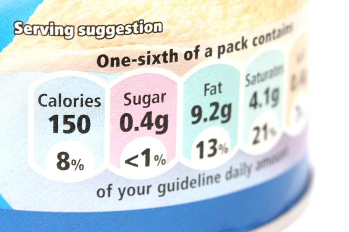 gda, etykieta, opakowanie, wartość odżywcza, kalorie, tłuszcze/ fot. Fotolia